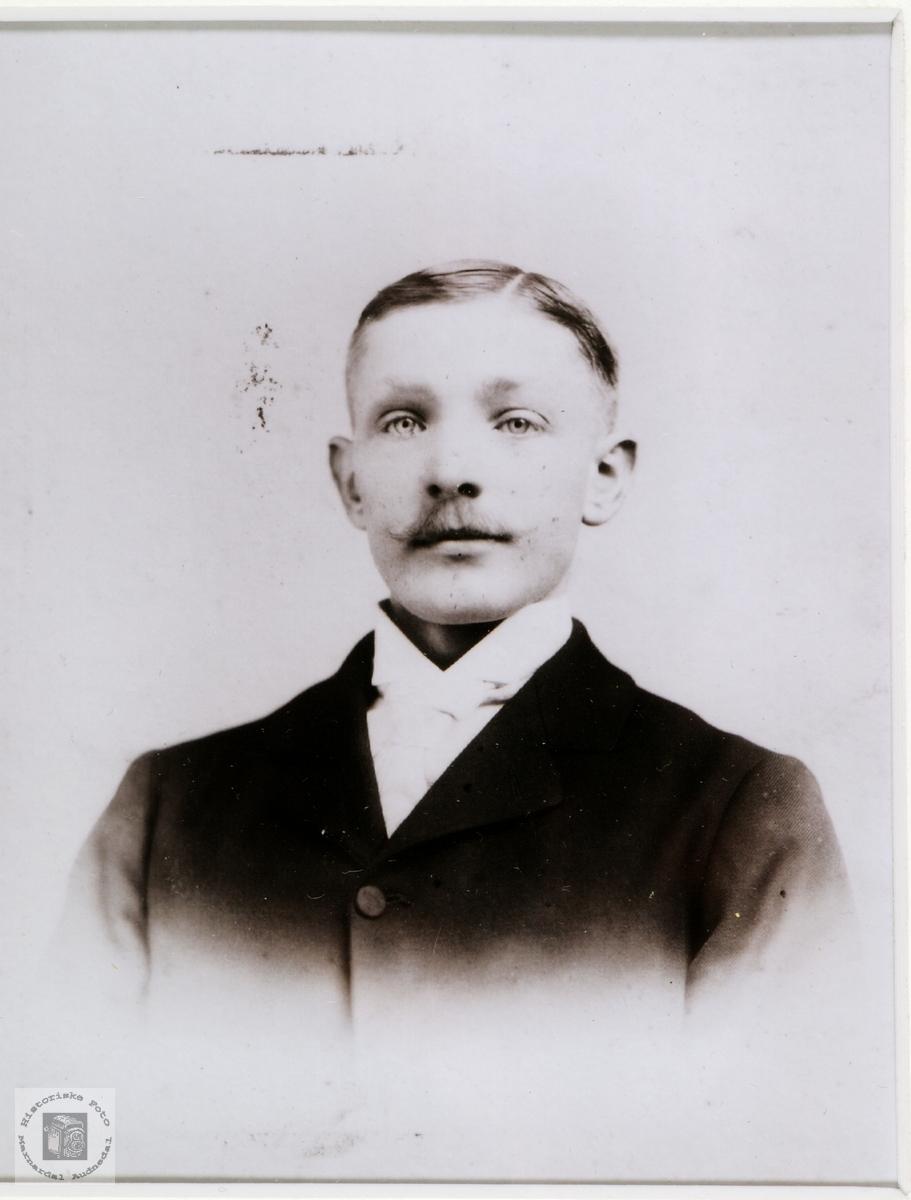 Portrett av Tobias Torkelson Stensland fra Hægebostad.