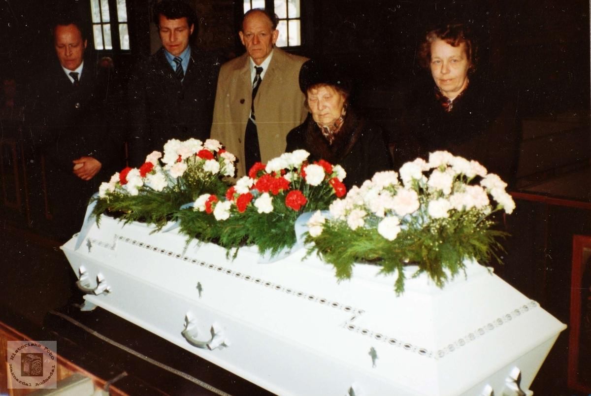 Begravelse til Severin Flottorp. Audnedal.