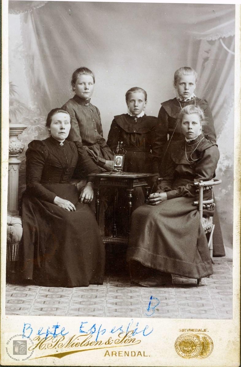 Familieportrett med røtter fra Grindheim Audnedal.