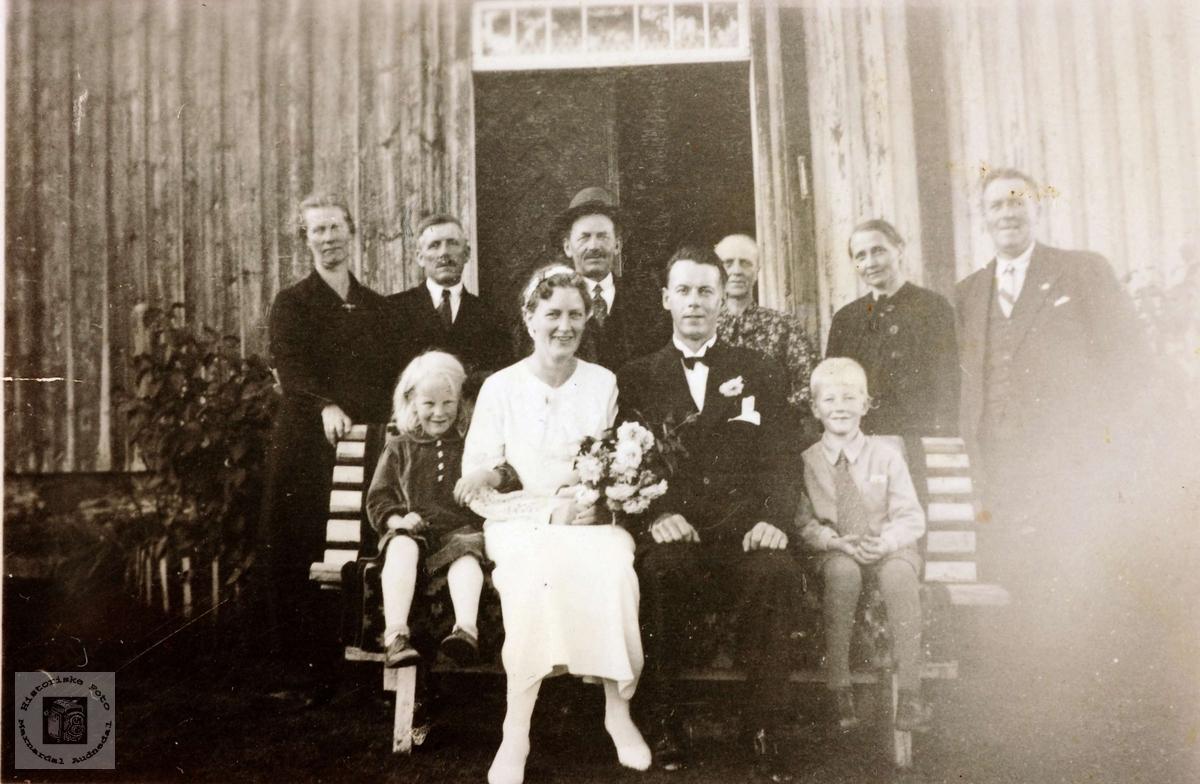 Brylllup til Anna og Torjus Førland. Grindheim Audnedal.