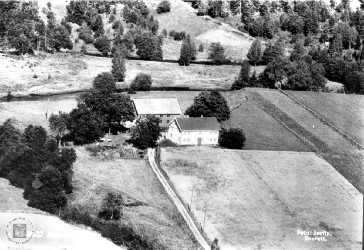Ny uthusbygning på gården Volland, Høye