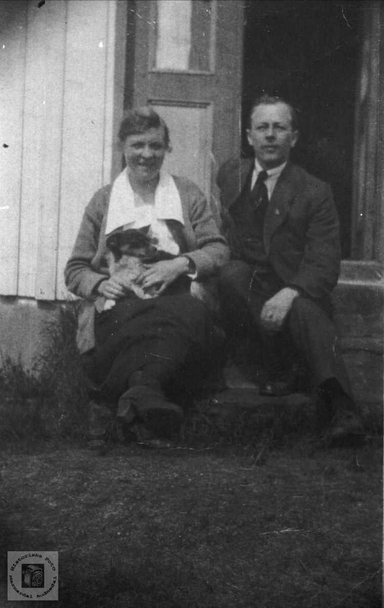 Ekteparet Martha og Sigurd Tobiassen.