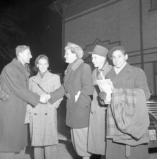 """Enligt notering: """"Engelska Bordtennisspelare Jan 1951""""."""