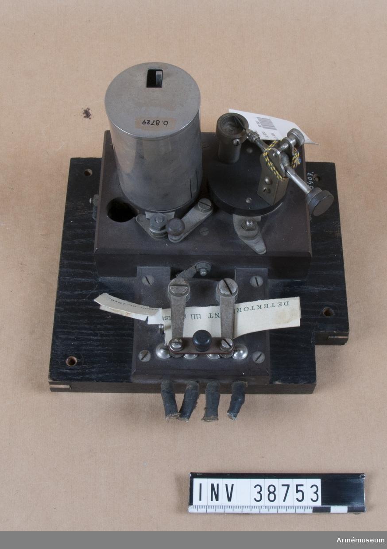 Grupp H II. Detektorplint till 2 kw gniststation m/1916.