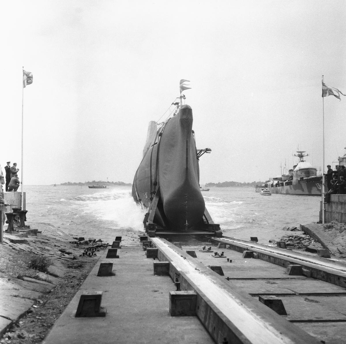 Fartyg: GRIPEN                          Övrigt: Sjösättning av ubåten Gripen