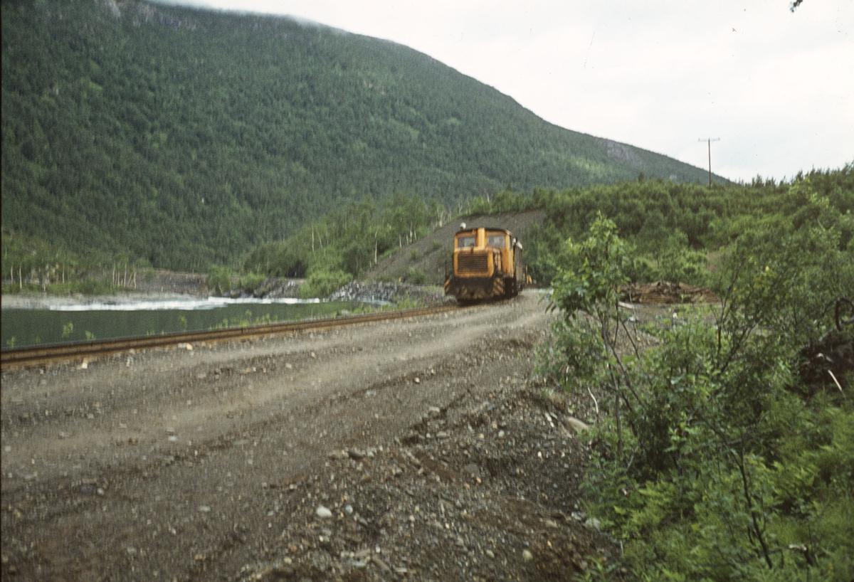 Sulitjelmabanen ca. 500 m nedenfor Ågifjellet holdeplass.