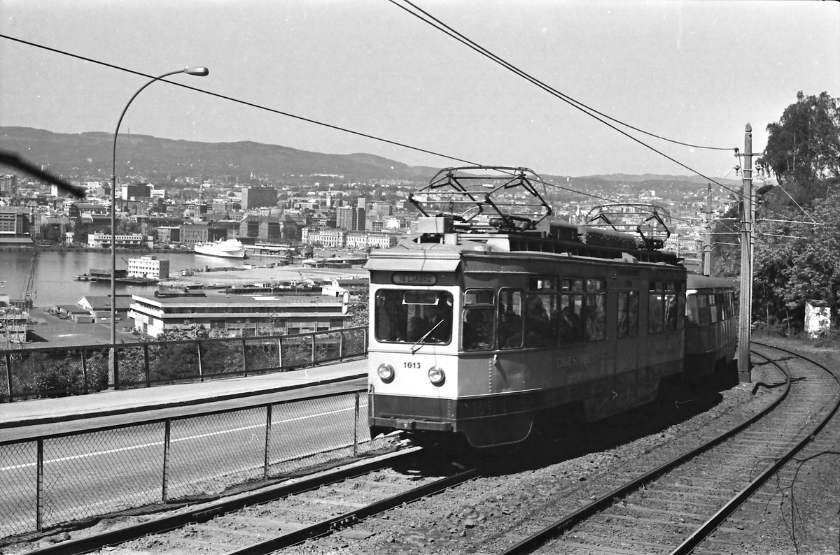 Ekebergbanen, Oslo Sporveier. Vogn 1013.