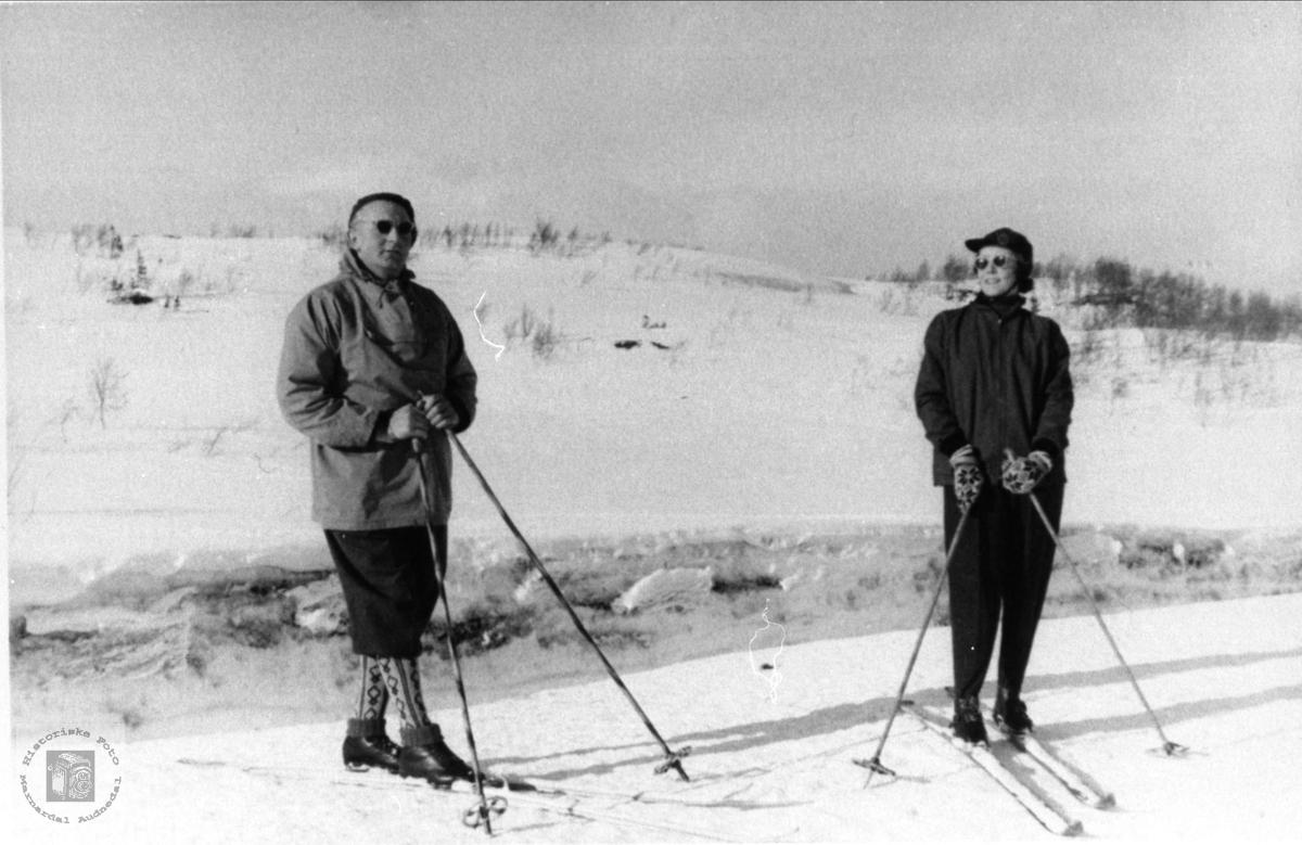 Ekteparet Jakob og Torbjørg Skjævesland