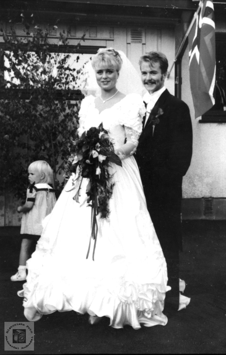 Brudepar. Else Margit  og Tor Gunvald Kjellemo.