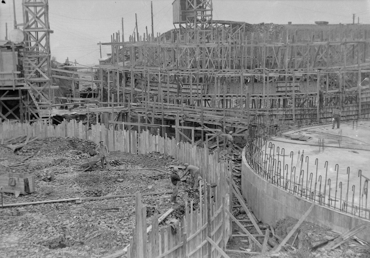 Bygging av Trondheim kommunes damanlegg på Kuhaugen