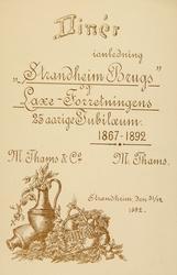 Menykort i anledning Strandheim Brugs, Laxe-Forretningens 25