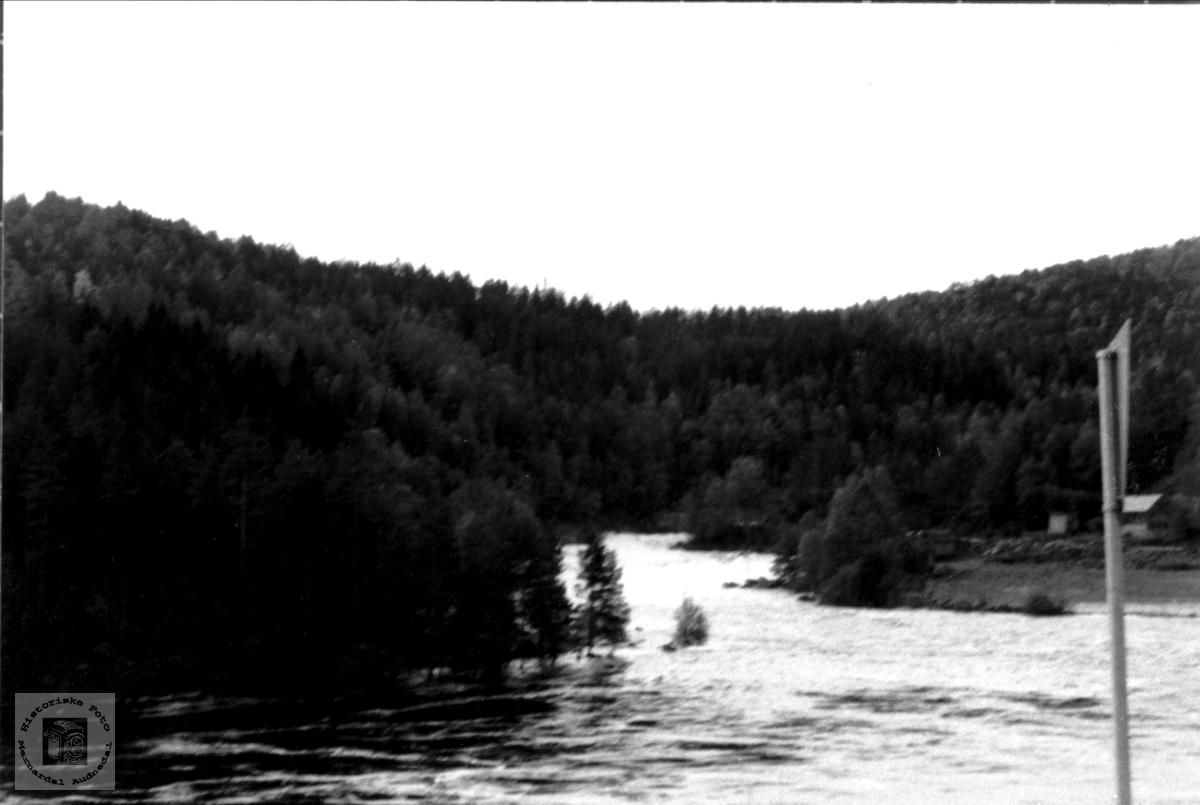 Vannfall Mandalselva ved Tungefoss.