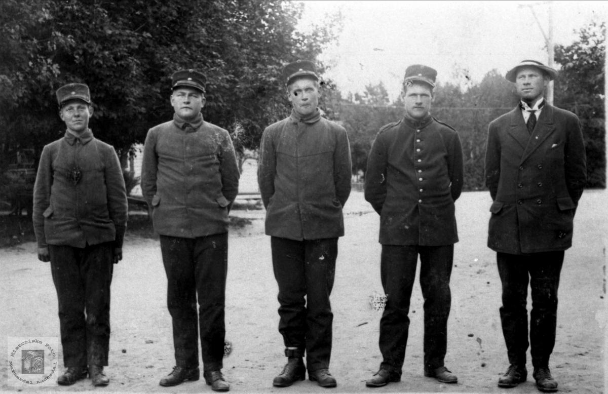 Personer fra Bjelland i millitæreteneste i 1916