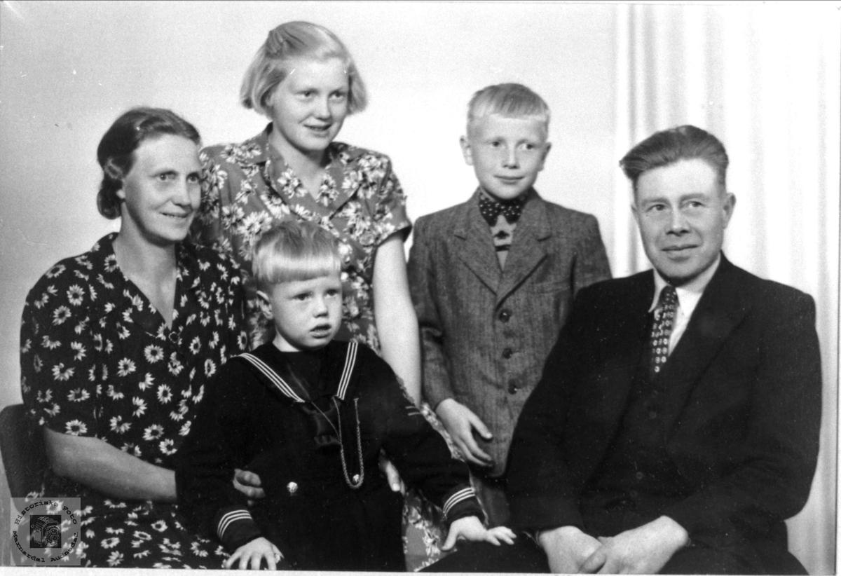 Familiebilde fra Trygsland