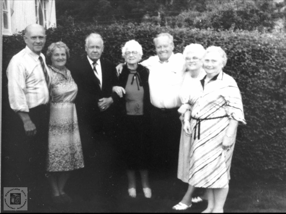 Slekt frå Lyngdal på Røynesdalsbesøk