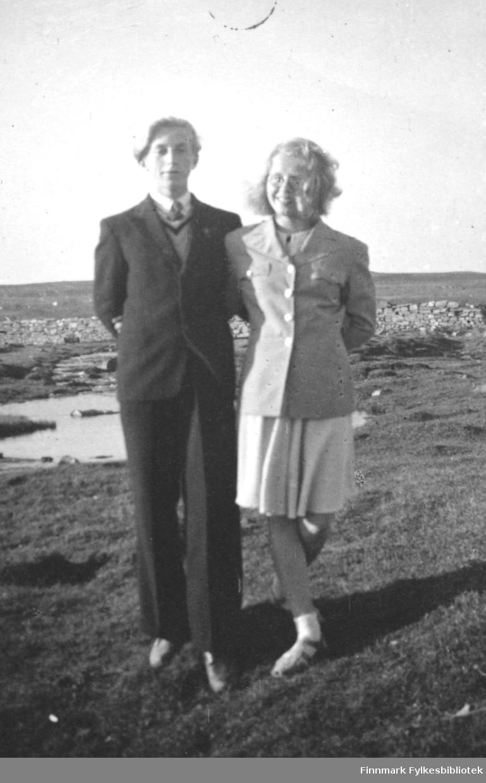 Kjæresteparet Torbjørn Pedersen og Gunhild Movinkel.