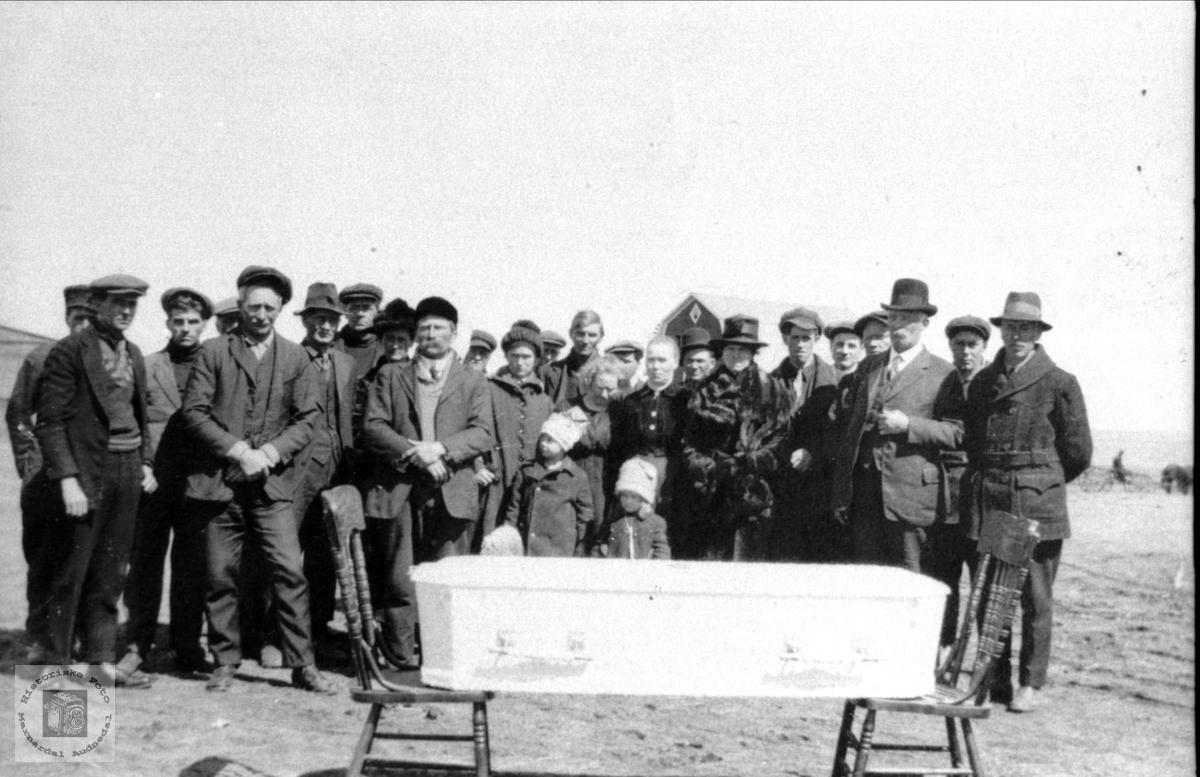 Begravelse på prærien.
