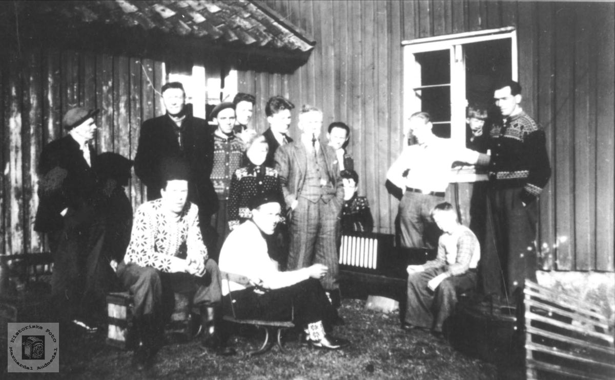 Radioen i sentrum 1945.