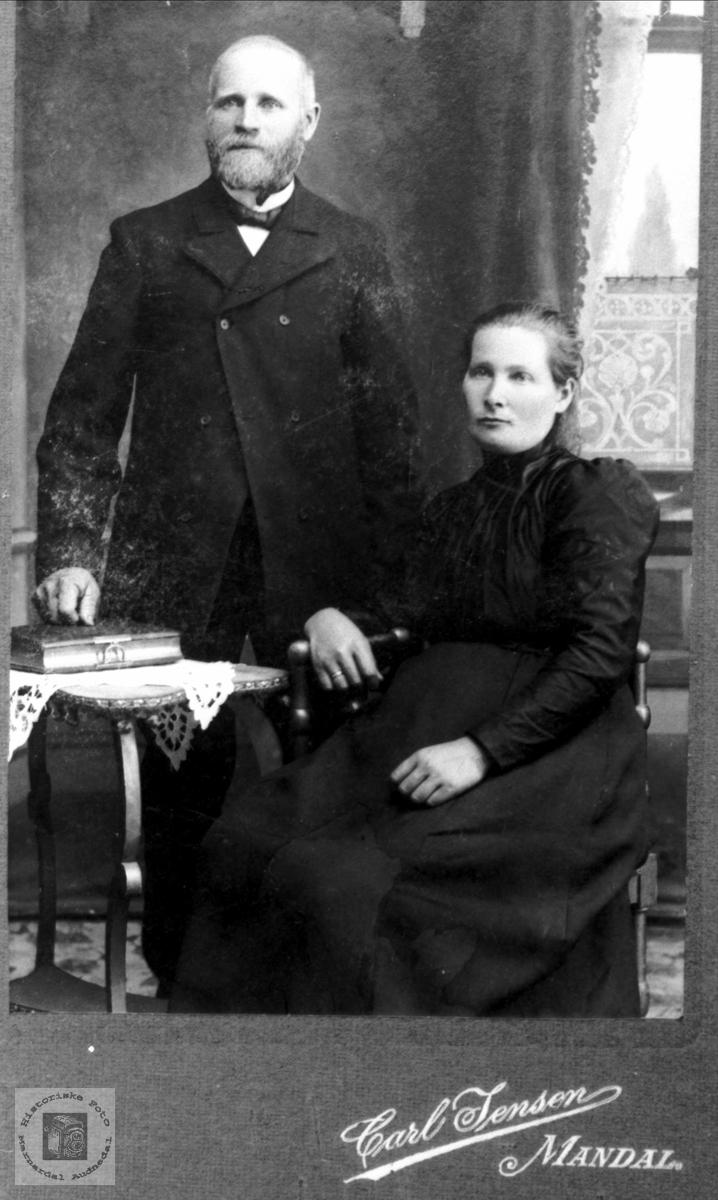 Portrett. Ekteparet Daniel og Ingeborg Mjåland.