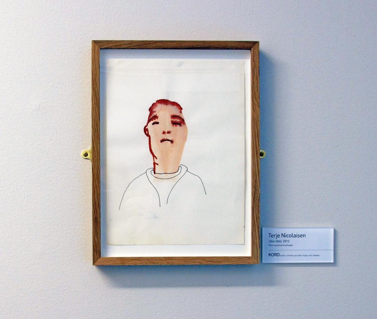 Terje Nicolaisen sine tegninger forteller ut i fra et gjerne klisjéfylt eller enkelt motiv historier på flere plan med sine karakteristiske blekktegninger.