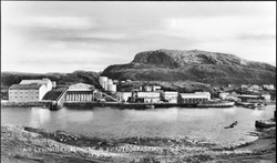 A/S Lysøysund Sildolje- og Kraftforfabrikk, sett fra Lysøya.