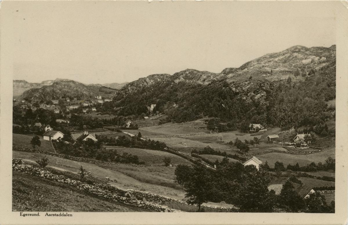Årstaddalen, Egersund ca. 1910.