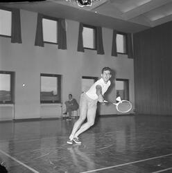 Badmintonturnering i brannstasjonens gymnastikksal
