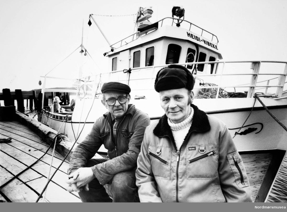 Heidi-Vibeke, krysser bygd på Bremsnes båtbyggeri, Averøy. Bildet er fra avisa Tidens Krav sitt arkiv i tidsrommet 1970-1994. Nå i Nordmøre museums fotosamling.