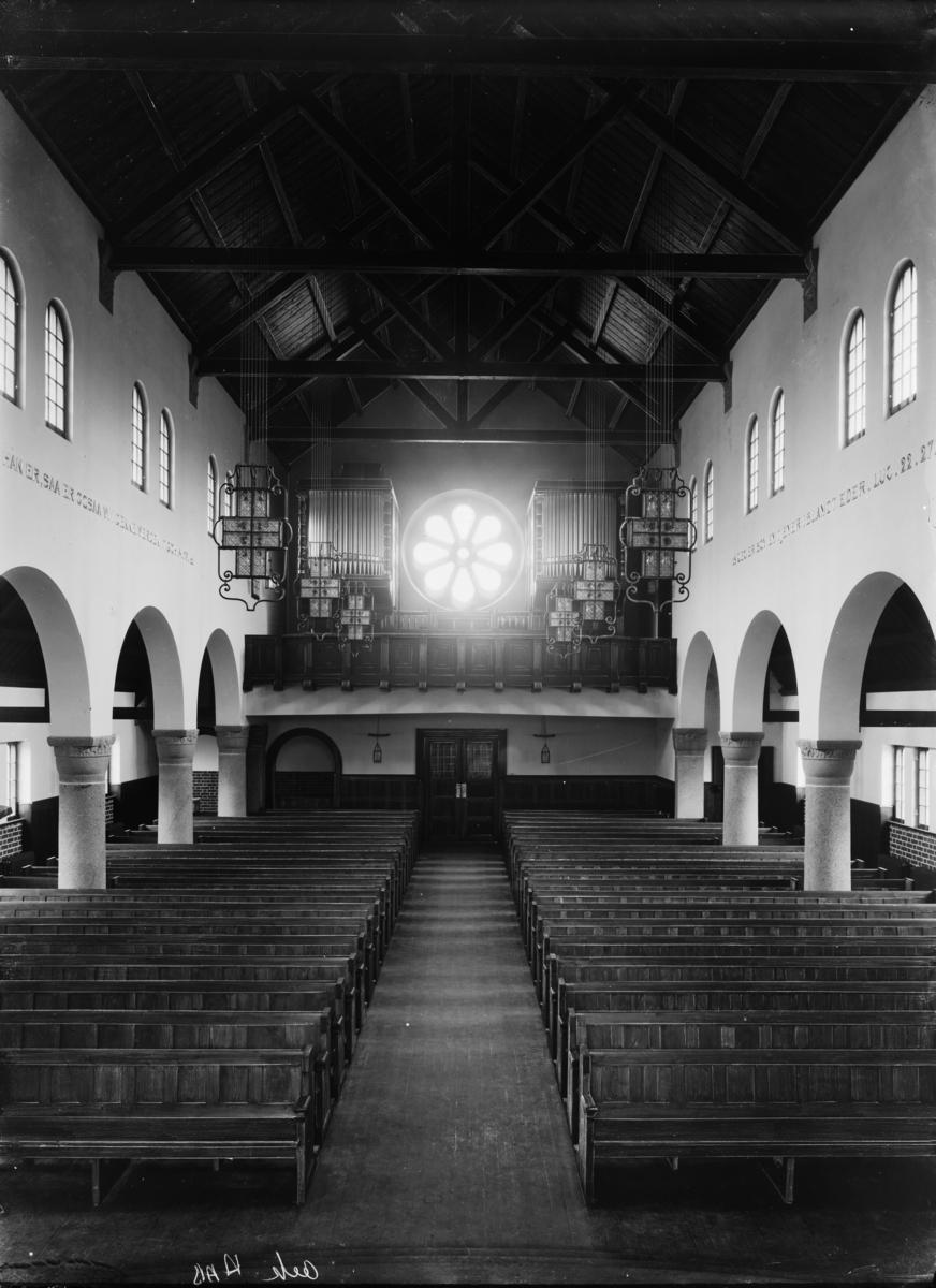 Kirkeinteriør fra ukjent kirke