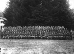 Arbeidstjenesten (AT) under andre verdenskrig, gruppebilde m