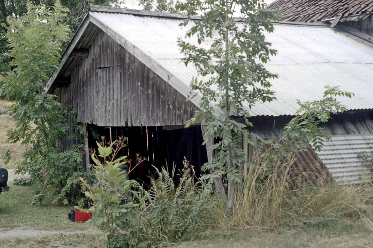 Ristøl. uthus, revet 1983. Hestevandring NØ, Revet 1983.
