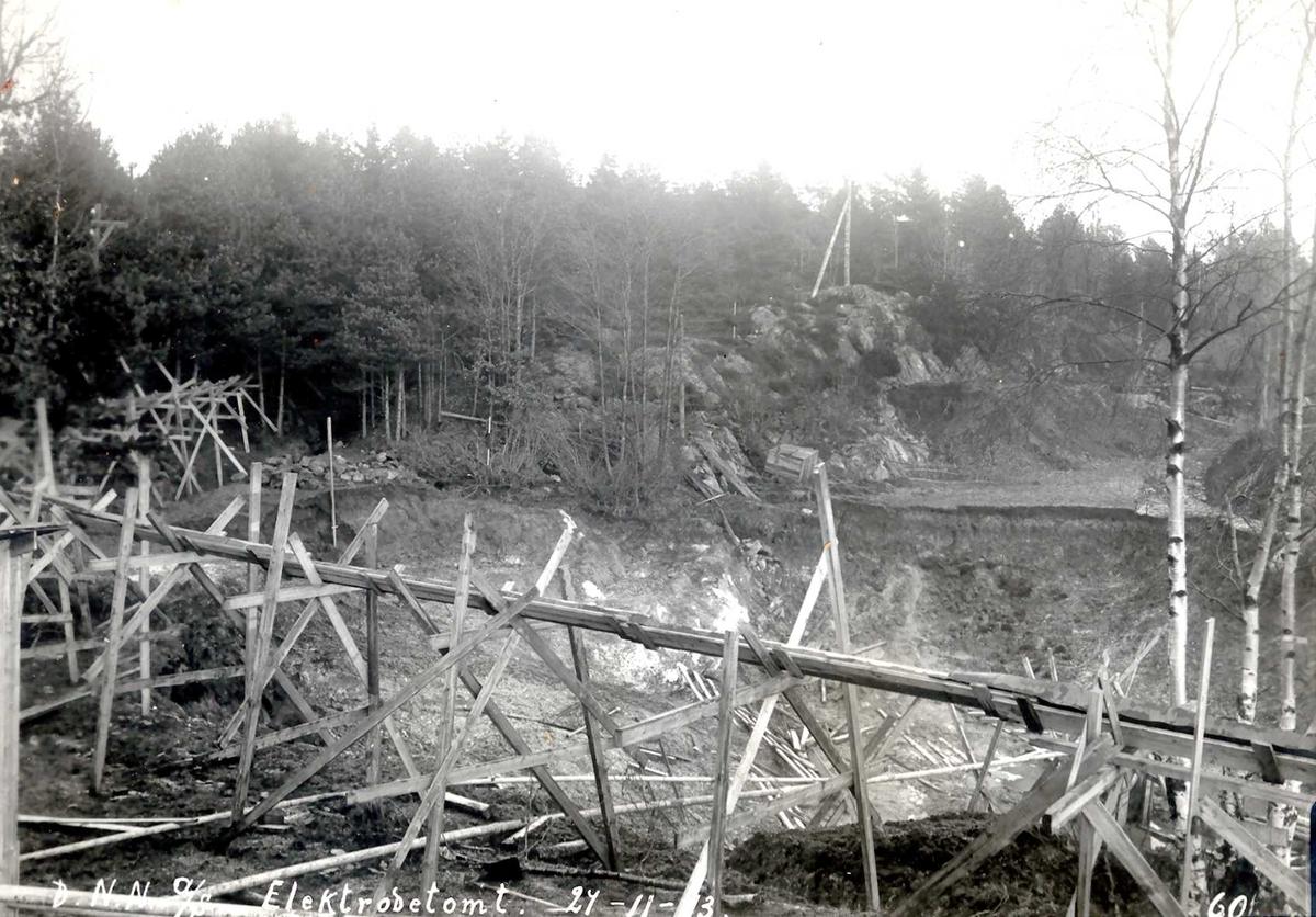"""""""27/11-1913"""" Nitriden. Tomt for elektrodefabrikken."""