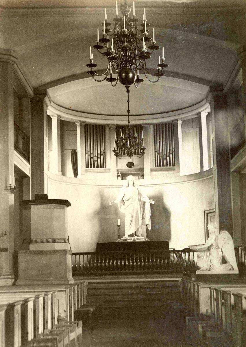 Stedsbilder Arendal Arendals kirke - koret - 1800 - tallet   Aaks 44 - 4 - 7 Bilde nummer 141
