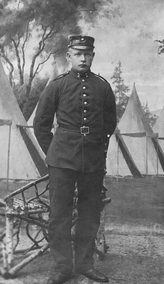 Soldat i kavaleriet. Halvor Sørlie (1884-1975)