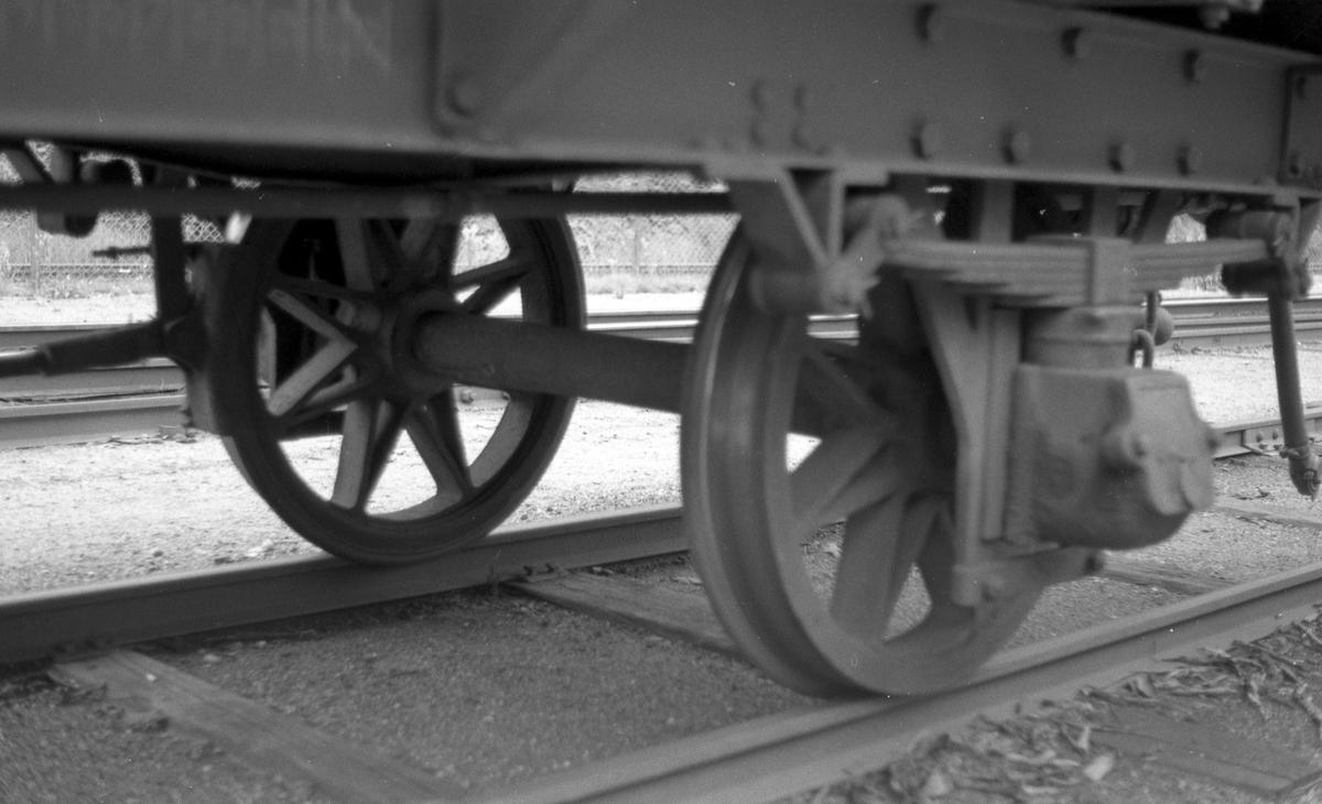 Hjulaksling og hjuloppheng på N 32 på Setesdalsbanen