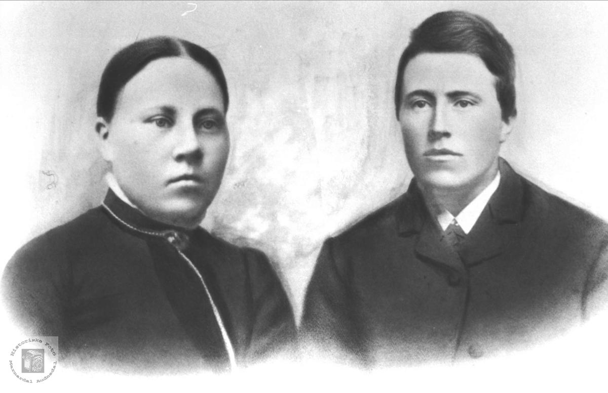 Ekteparet Gunvor og Knud Abelset. Bjelland.