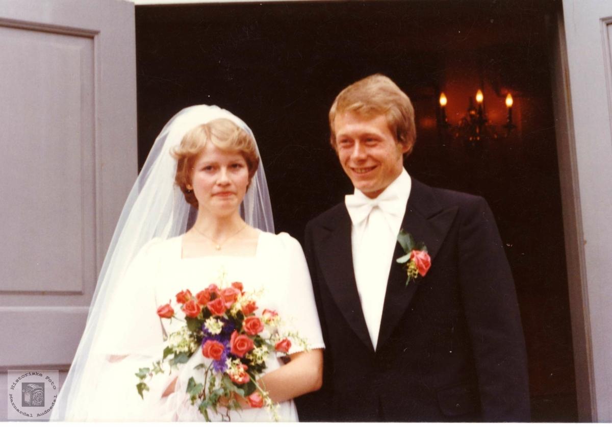 Brudeparet Ingrid og Kjell Egil Leland