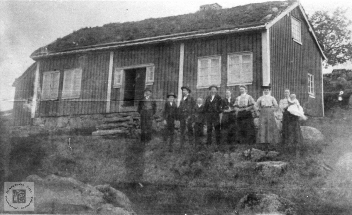 Familie på Omdal, Hægebostad.