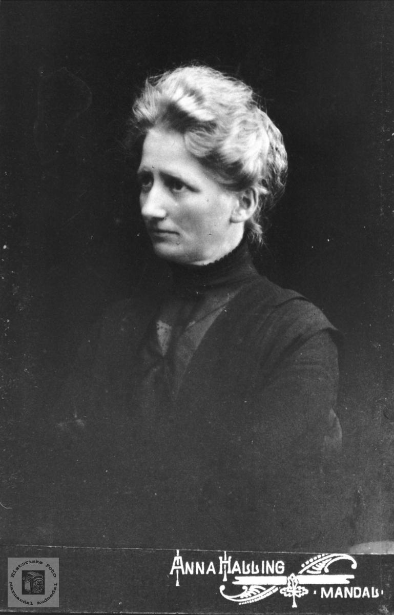 Portrett av Agnes Skaar, Øyslebø.