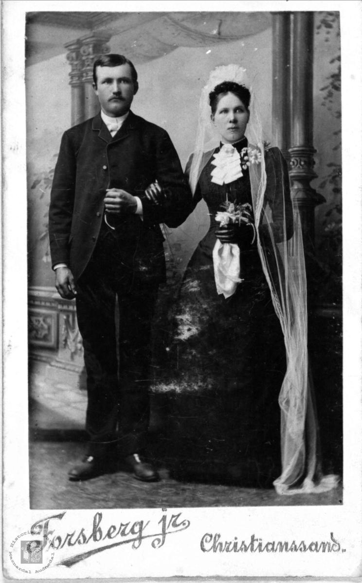 Brudeparet Ola og Åse Regine Wigemyr, Øyslebø.