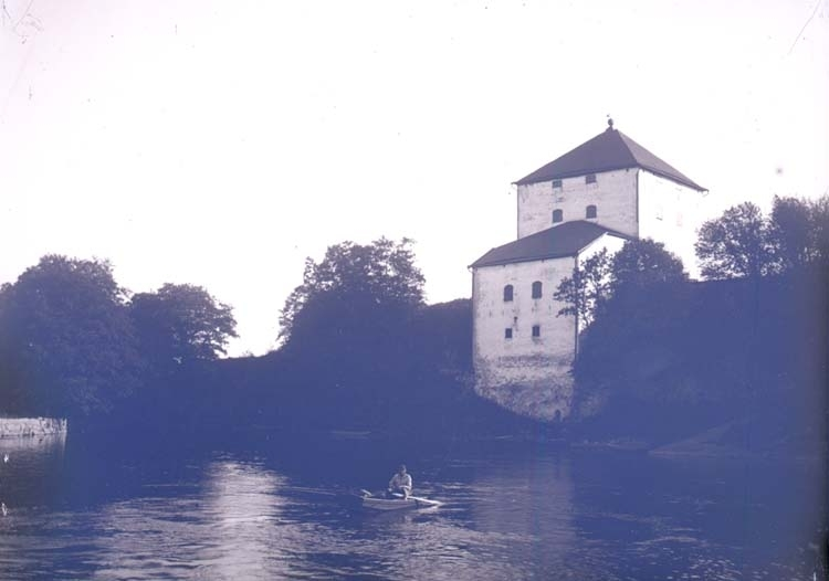 """Enligt text som medföljde bilden: """"Nyköpings hus, Slottet. Ruinerna. 16/9 1900."""""""