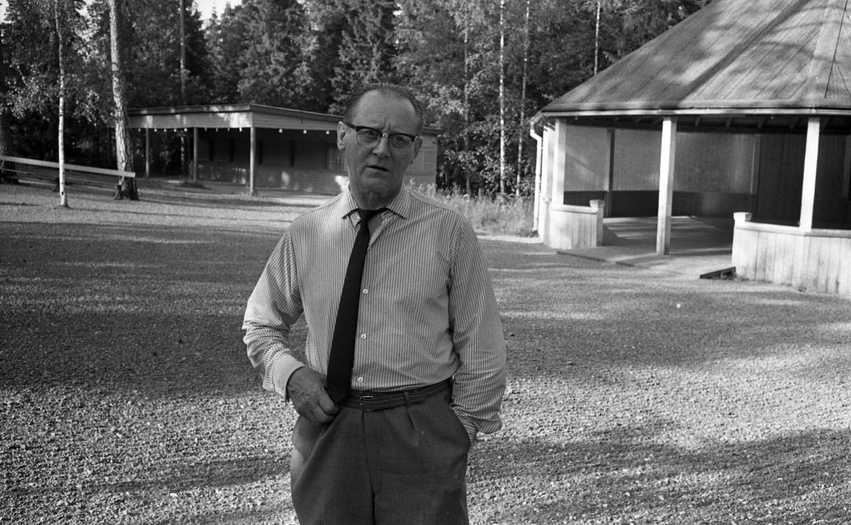 Nora Folkets Park 3 augusti 1967. Ewert Johansson, drev Nora Folkets Park i många år på 1950-60 talet.