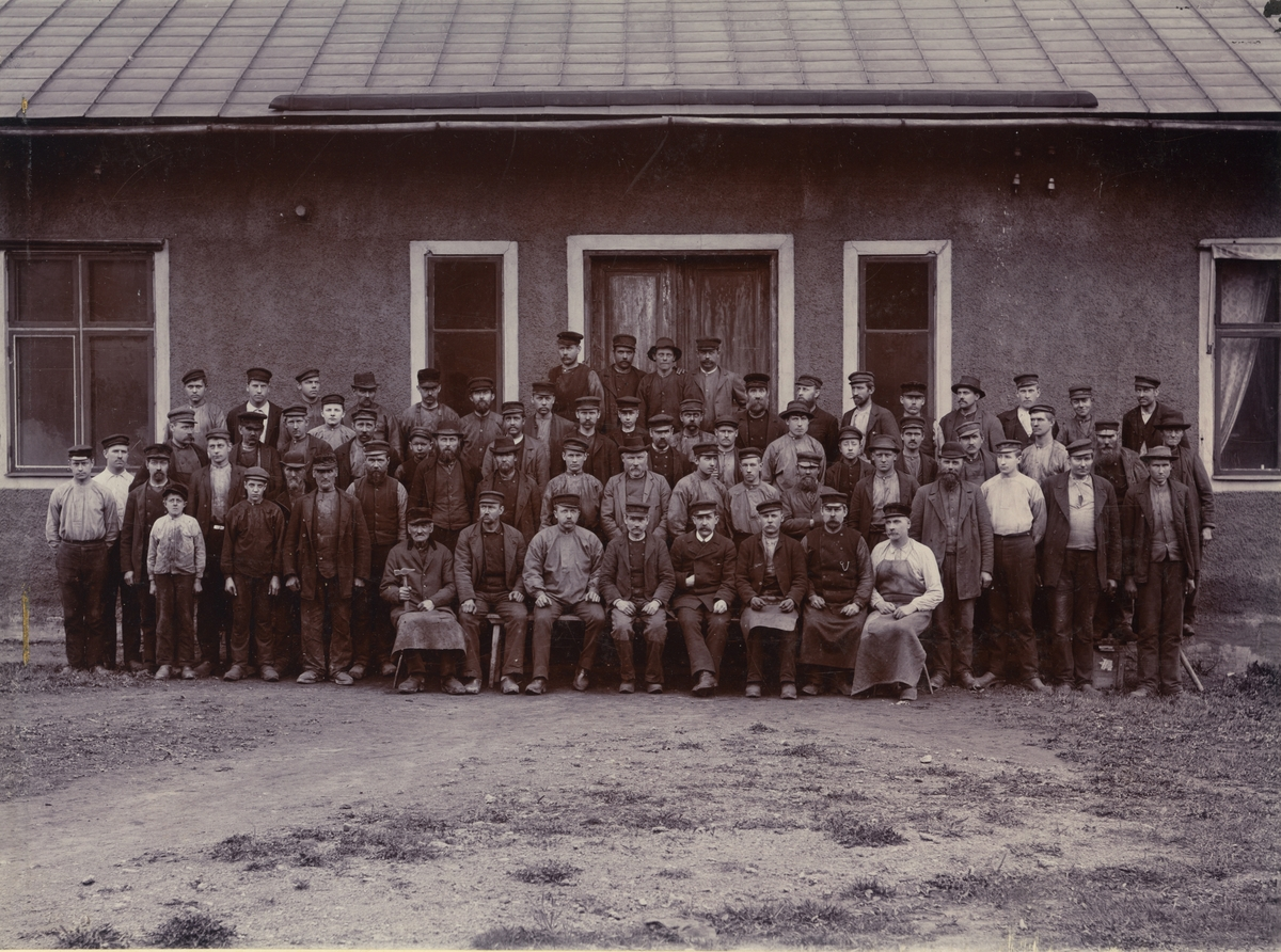 Arbetare vid Österby Bruk.