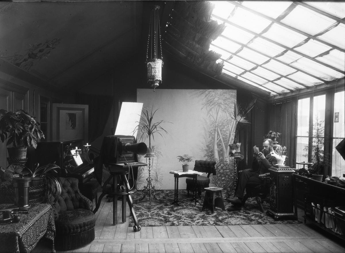 Diapositiv, fotografi av Thorvald Gehrmans bostad och ateljé i Hedemora.