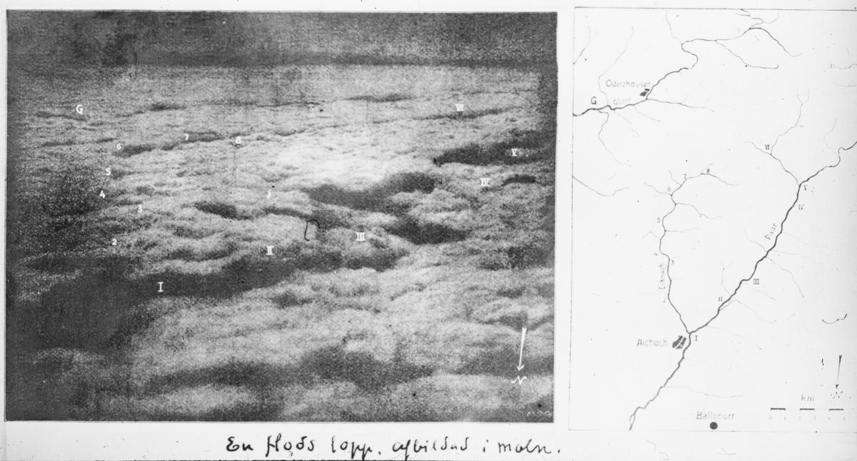 Skioptikonbild med motiv rörande olika typer av moln.