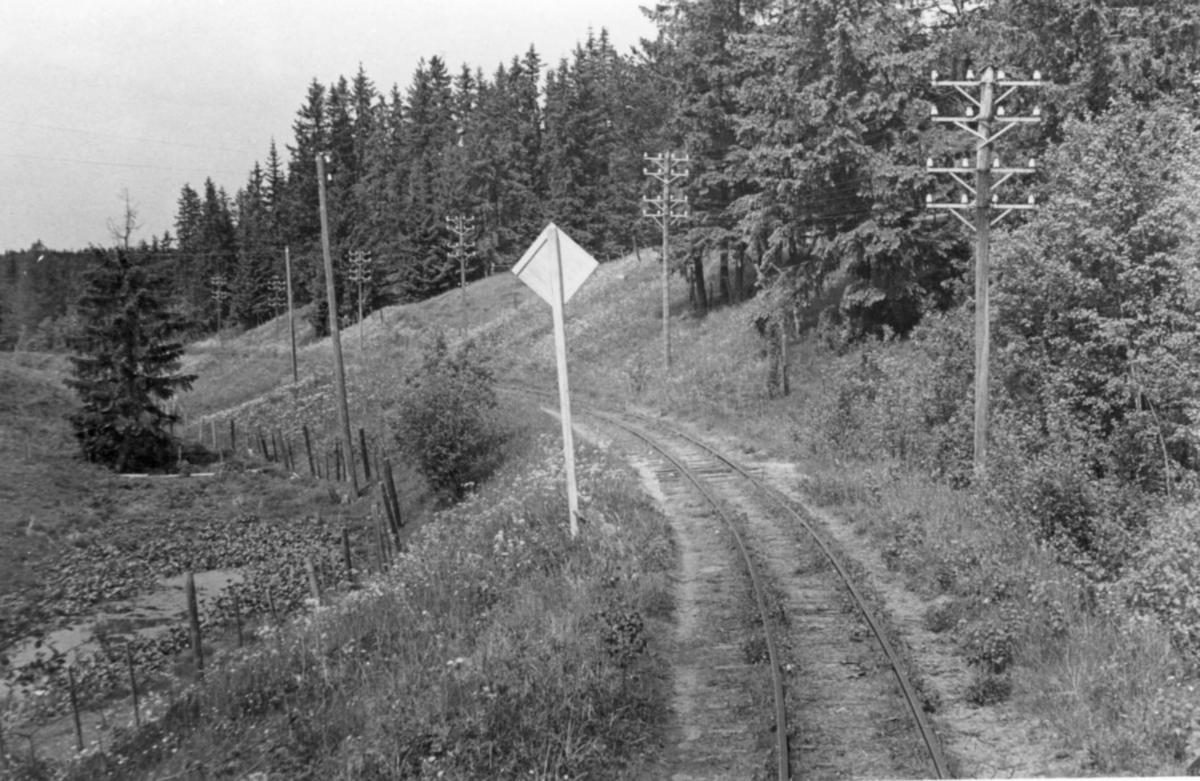 Fra Sætrabakken på Urskog-Hølandsbanen.