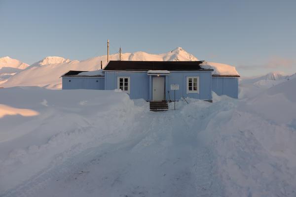 Radio- og kringkastingsstasjoner. Ny- Ålesund, eksteriør etter restaurering. Foto/Photo