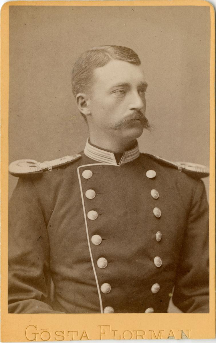 Porträtt av Carl August Wulff, kapten vid Första livgrenadjärregementet I 4.