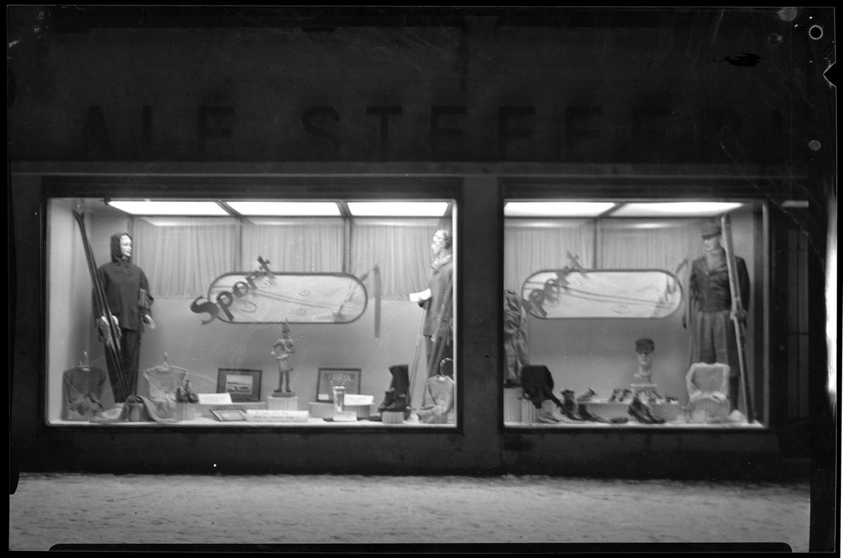 Alf Stefferuds utstillingsvindu, reklame