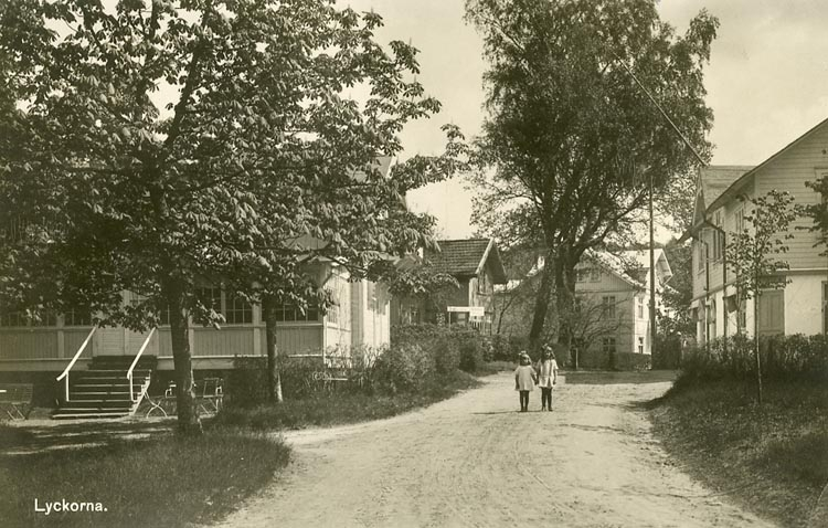 Kvarnstigen på Lyckorna omkring 1915